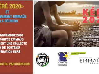 EMMAÜS SOLIDAIRE - OPÉRATION KÉRÉ 2020