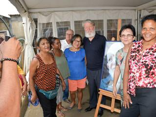 Visite du Père Pedro à Emmaüs Réunion