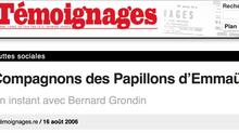 Un instant avec Bernard GRONDIN