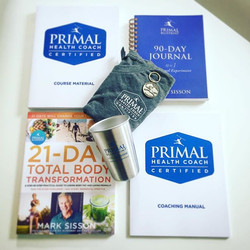Finally received my #primalblueprinthealthcoach welcome pack....jpg