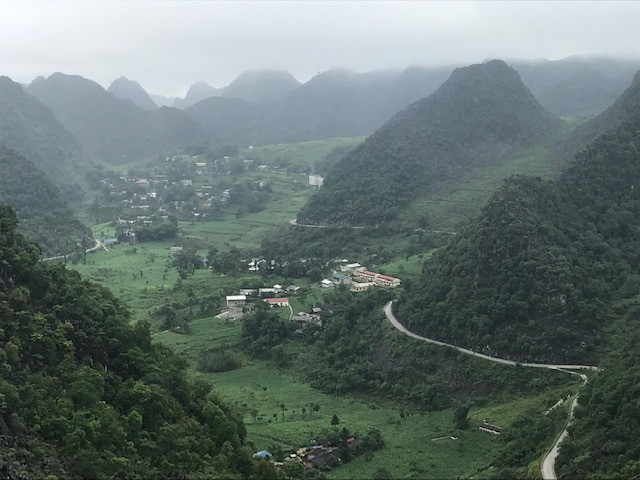 Ha Giang, Vietnam. Beautiful green hills and mountains in the country of Vietnam.