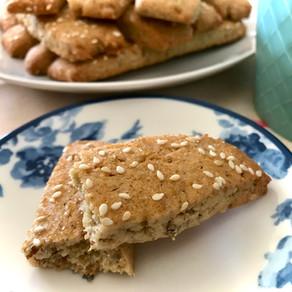pecan & sesame biscuits
