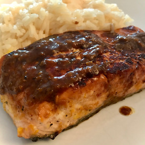 salmon filet in orange sauce