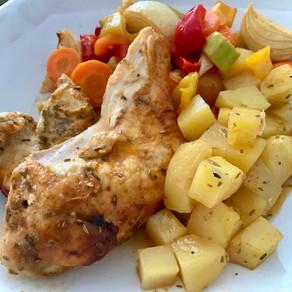 garlic lemon roast chicken