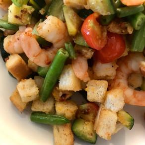 prawn crouton salad