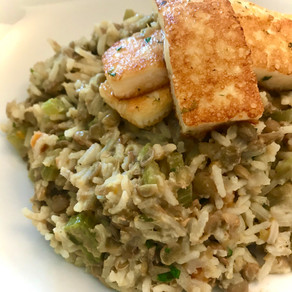 sticky rice with lentils