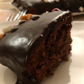 chocolate cake with apricot jam