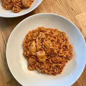 chicken kritharaki casserole