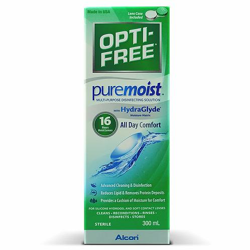 OPTI-FREE® PureMoist®多功能消毒隱形眼镜藥水(300ml) 2支裝