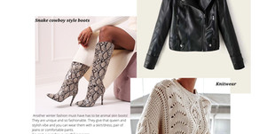 Knitwear and leather trends