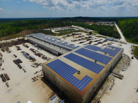 RENEWVIA ENERGY BUILDS ONE OF THE LARGEST ROOFTOP SOLAR ARRAYS IN ALABAMA FOR STEELFAB, INC.