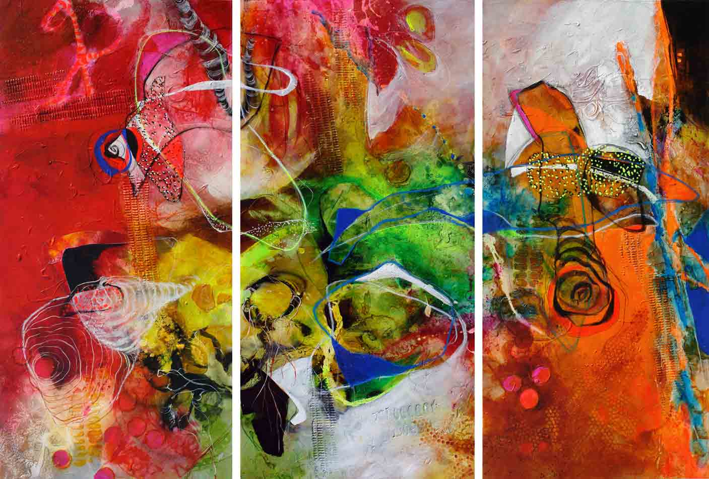 Camino sinuoso III to V-Triptych  (SOLD)