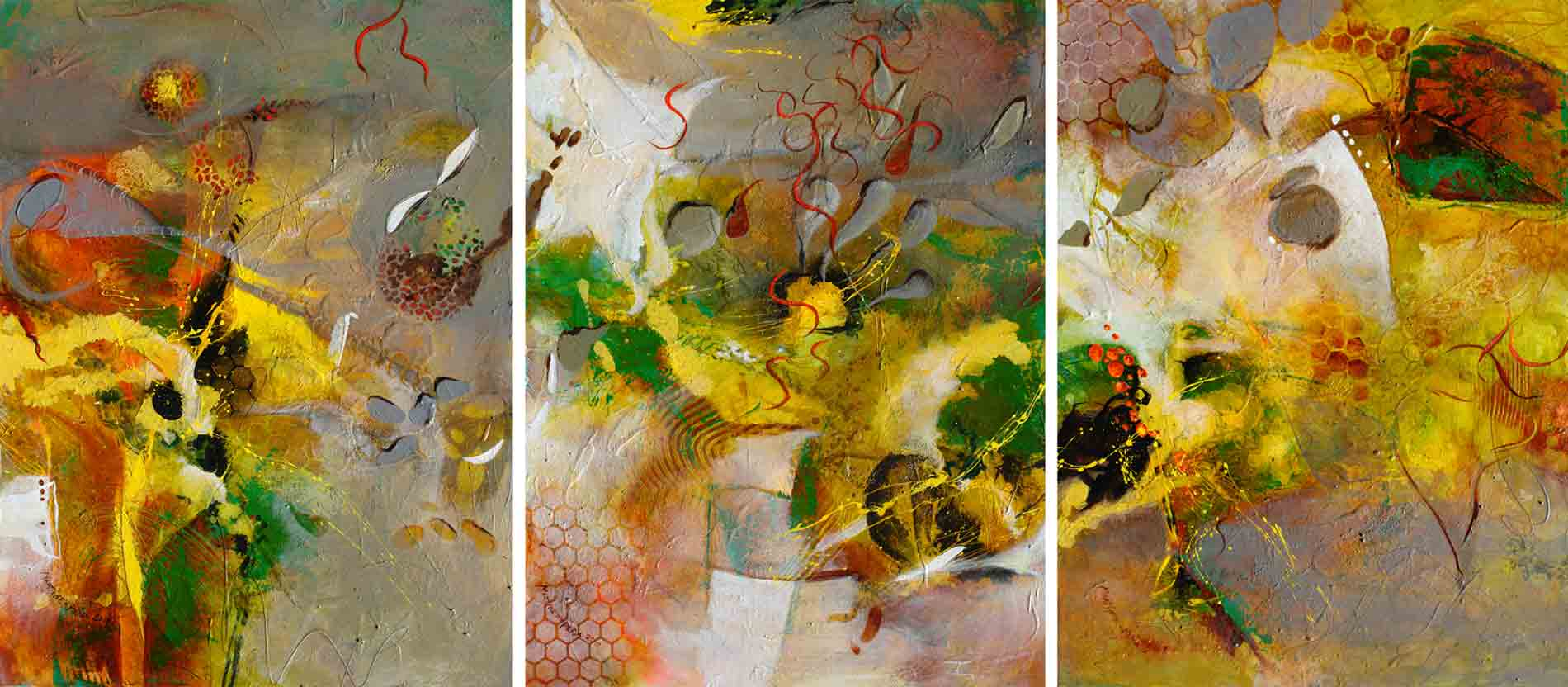 Alborada V to VII-Triptych (SOLD)