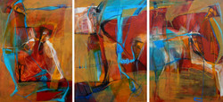 Desestresados I to III-Triptych (SOLD)