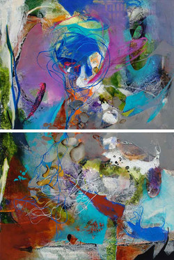 Aurora Boreal I and II-Diptych (SOLD)