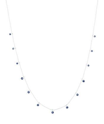 Sapphire Smile Necklace