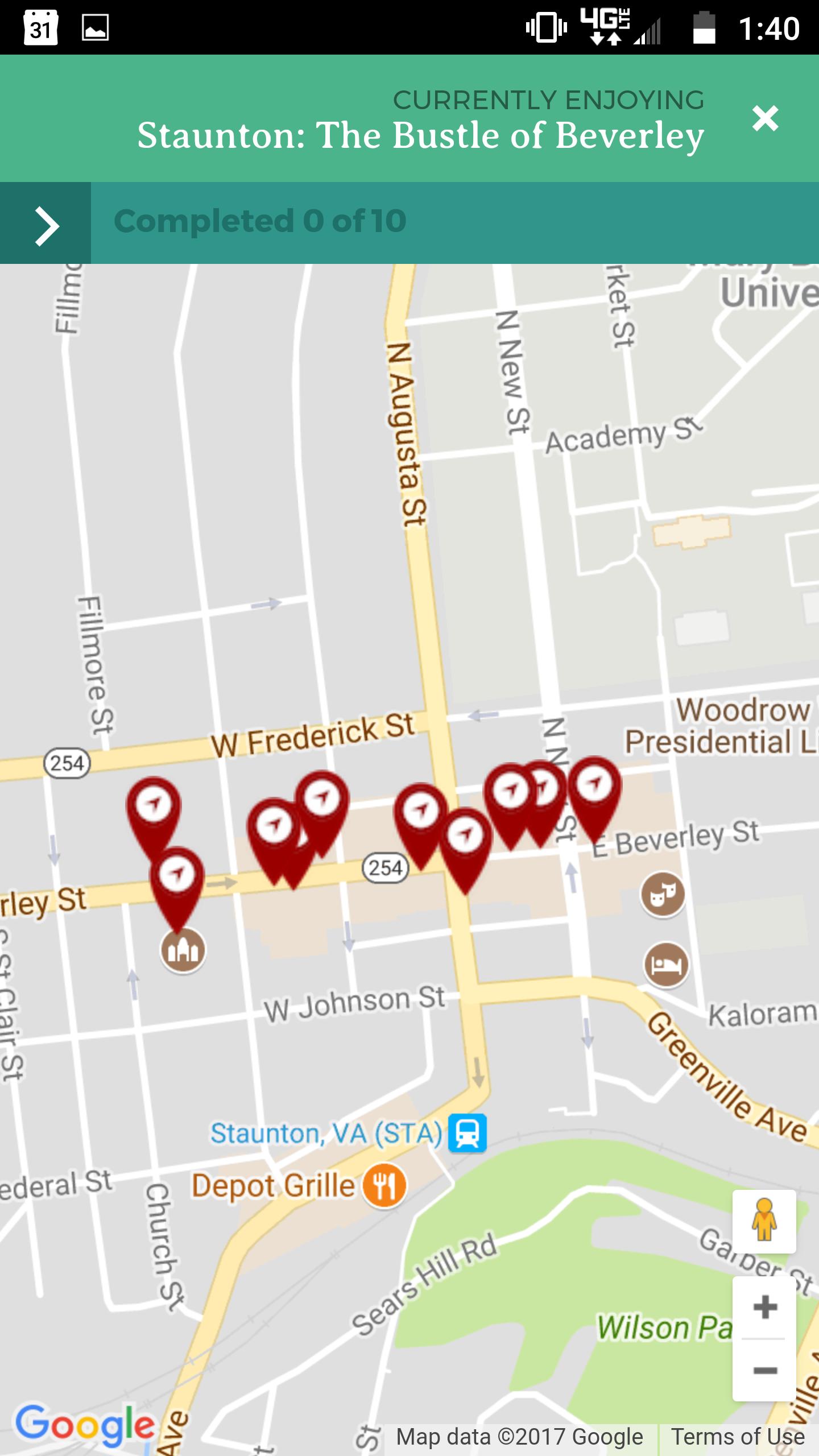 Tour Stops Map