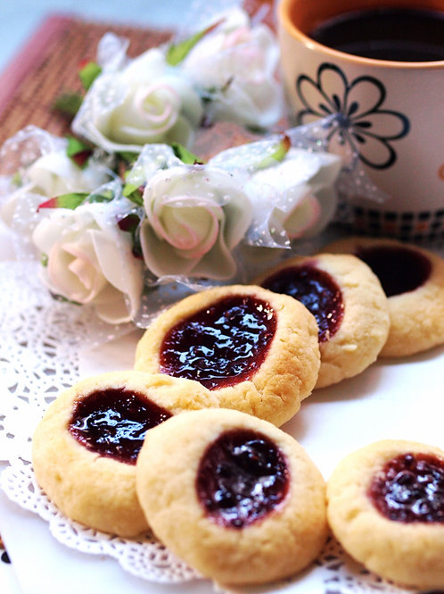 Jam Thumbprints Cookies