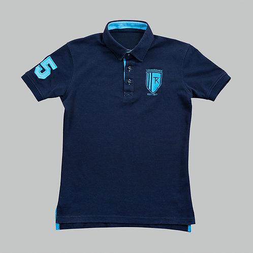 TomsPoloshirts – Deep Navy / Pacific Blue