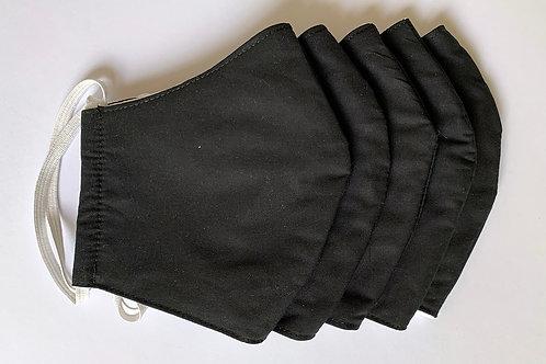 Stoffmaske 5er-Pack, dunkelgrau