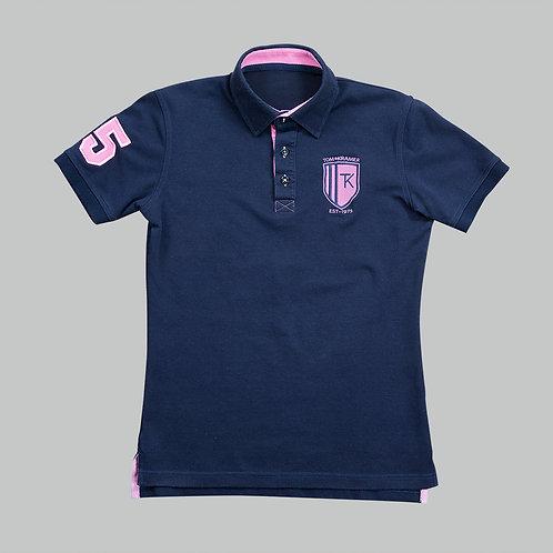 TomsPoloshirts – Deep Navy / Carnation Pink