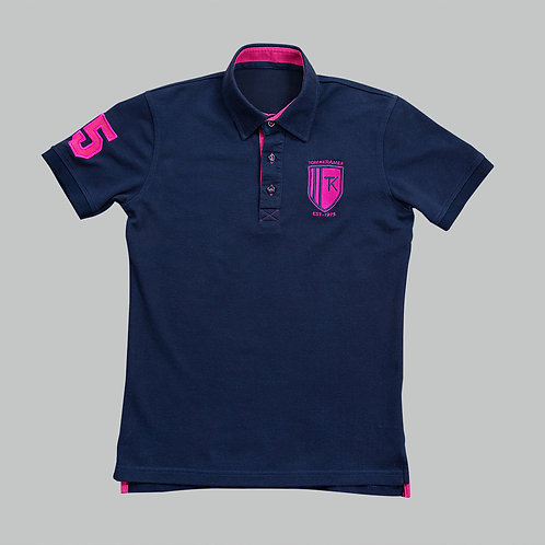 TomsPoloshirts – Deep Navy / Shocking Pink