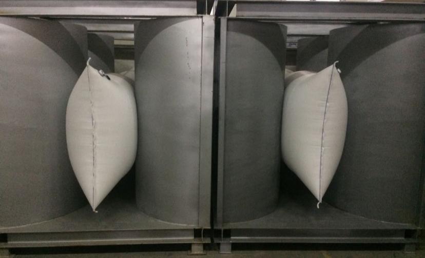 Cargo Tuff factory test racks for in house testing.