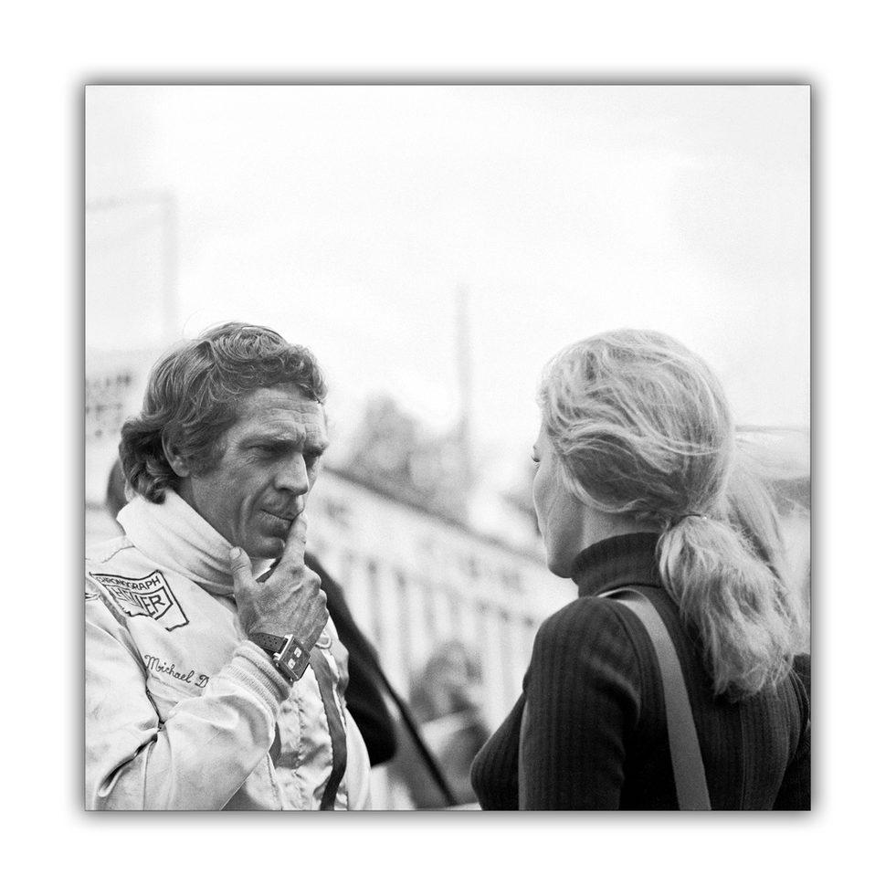 Steve & Elga - 'Le Mans' filmset 1970
