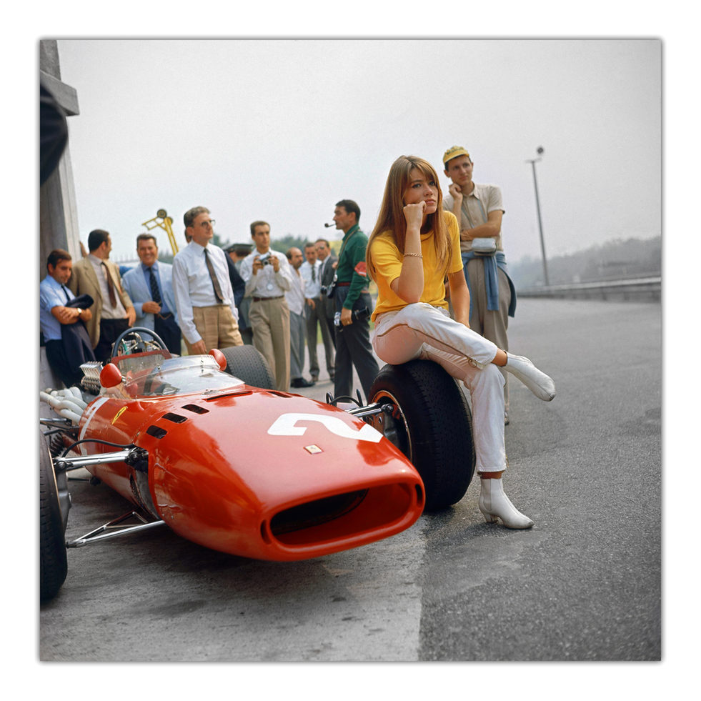 Francoise Hardy 'Grand Prix' filmset 1966
