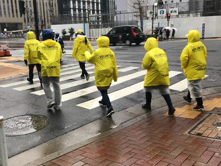 雨の東京マラソンですが
