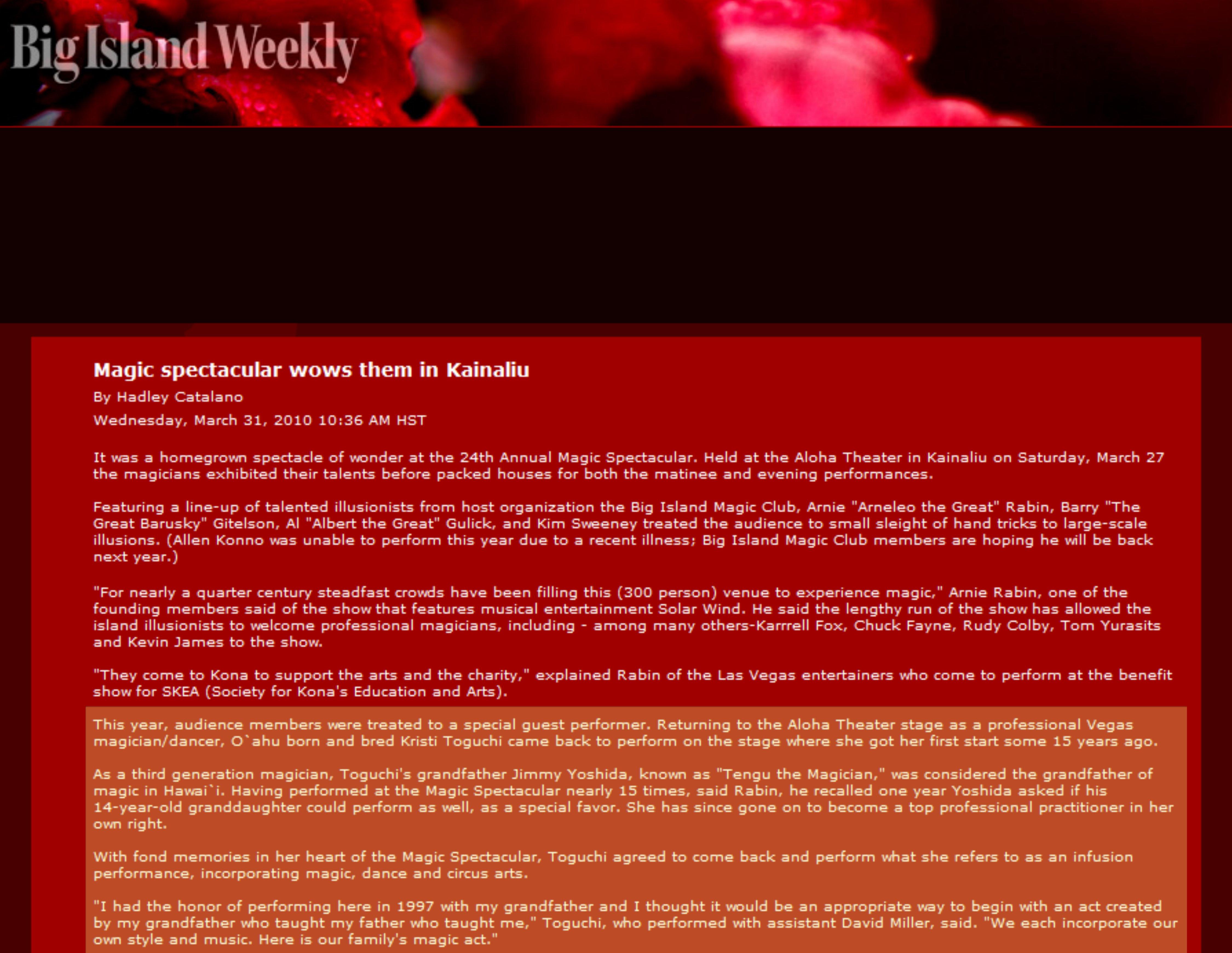 Big Island Weekly