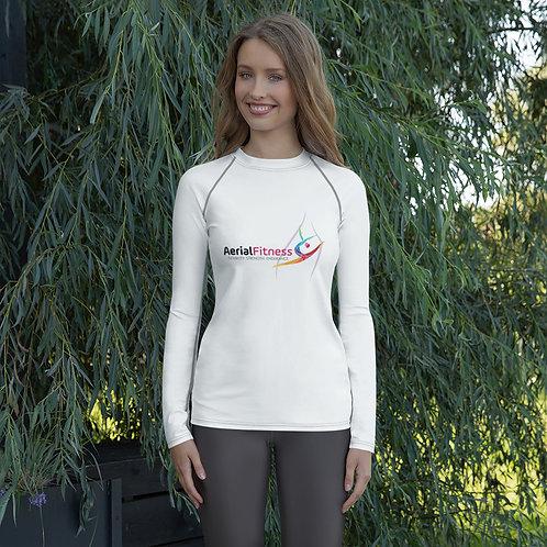 Aerial Fitness Logo Women's Rash Guard