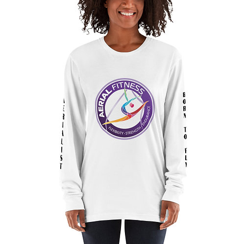 Aerial Fitness Logo Unisex Long sleeve t-shirt