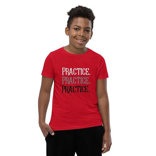 Practice. Practice. Practice. Youth Short Sleeve T-Shirt