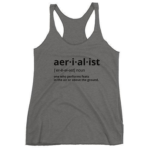 Aerialist definition Women's Racerback Tank
