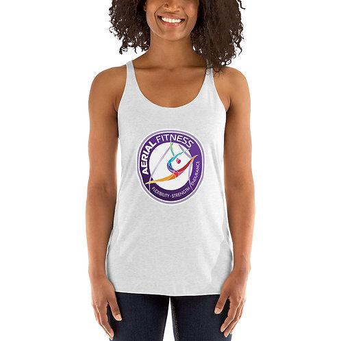 Aerial Fitness Logo Women's Racerback Tank