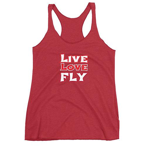 Aerialist LIVE LOVE FLY Women's Racerback Tank