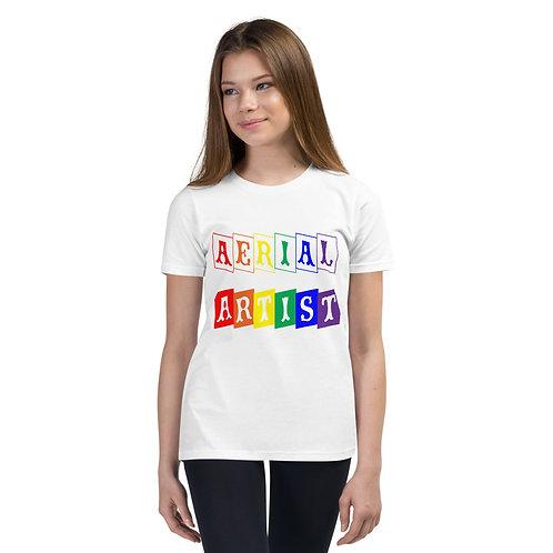Aerialist Rainbow Blocks Youth Short Sleeve T-Shirt