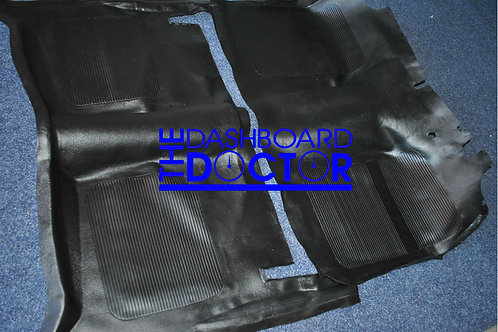 Moulded reproduction rubber Floor Mat - Holden HK HT HG - Front and rear