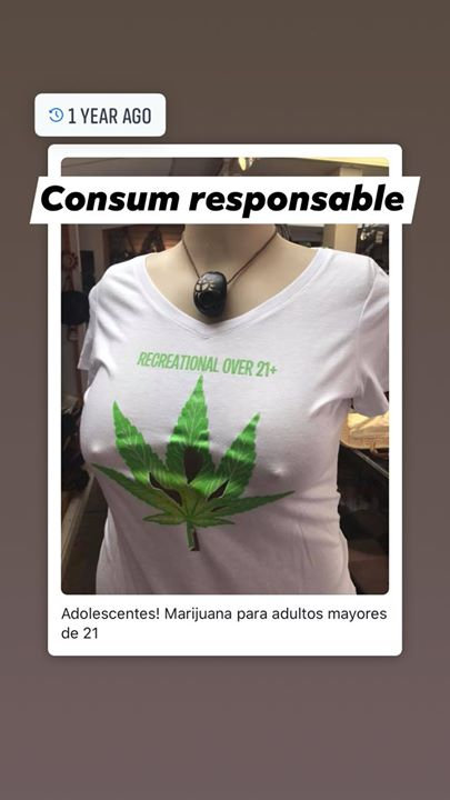 Sexi White Tshirt Mariguana Recreational Over 21