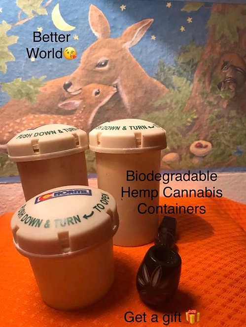HEMP Made Containers packaging