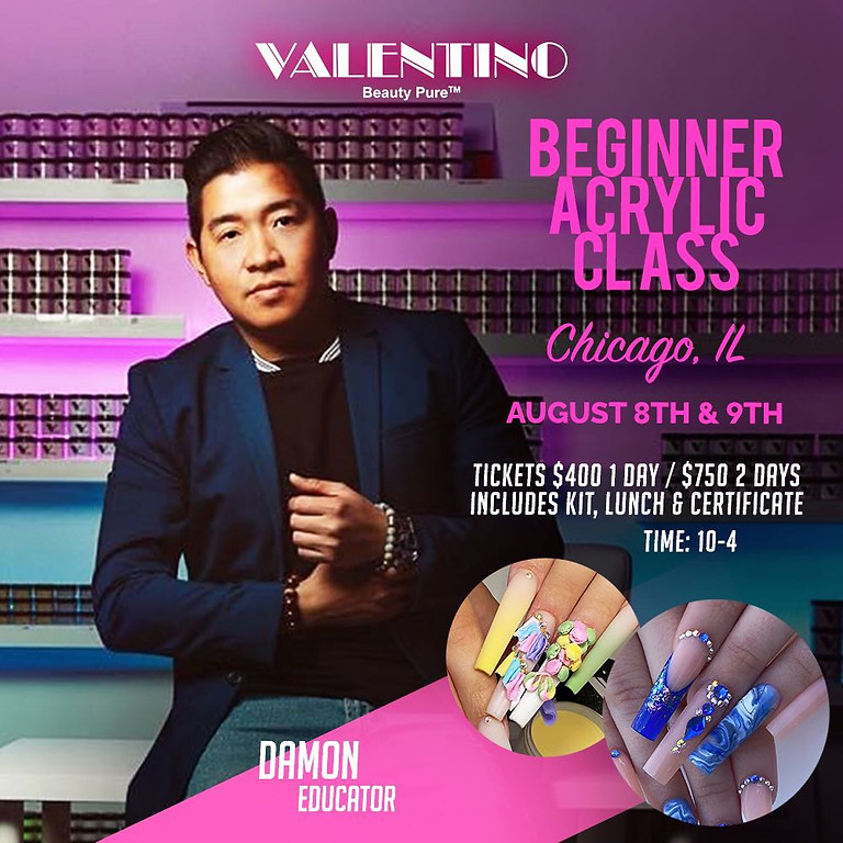 Beginner Acrylic Class with Damon from Valentino Beauty Pure