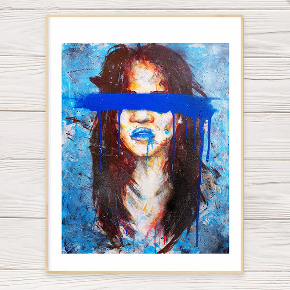 """Blue Eyes"" Limited Edition Print"