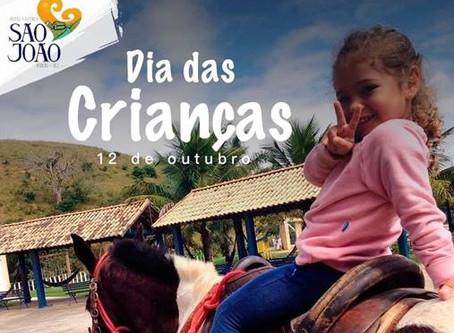 Programação dia das crianças no Hotel Fazenda São João do Piraí
