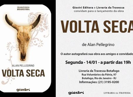 Na segunda-feia, dia 14 de Janeiro, o ator e agora também escritor, Alan Pellegrino, lança o livro &
