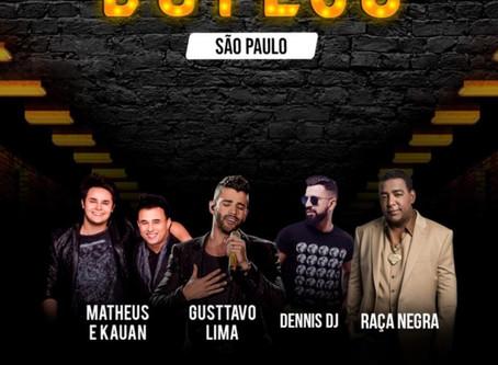 """Gusttavo Lima comemora sucesso com venda de ingressos na estreia do """"Buteco"""" em São Paulo"""