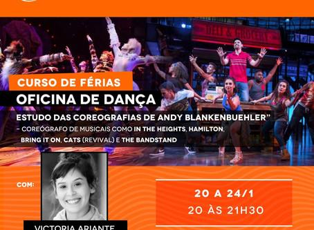 Victoria Ariante irá ministrar curso de dança ainda em Janeiro