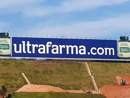 Ultrafarma é proprietária do maior outdoor do Brasil