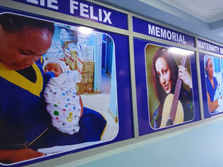 Unveiled the Julie Felix Memorial Maternity Unit