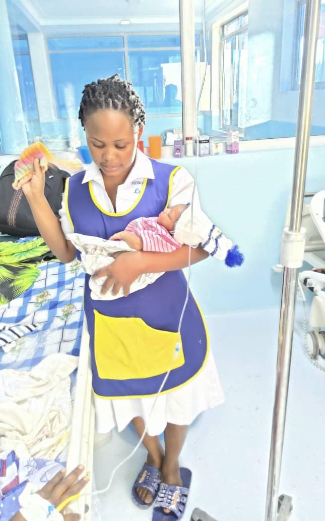 Hasfa and newborn